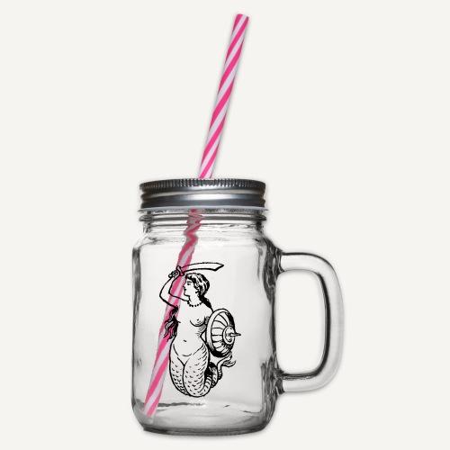 syrenka - Słoik do picia z pokrywką