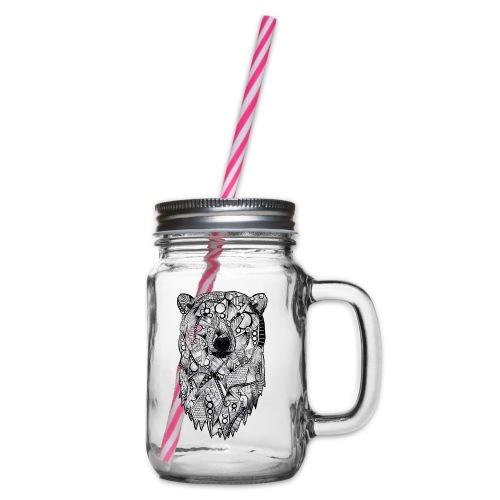 Isbjørn - Glass med hank og skrulokk