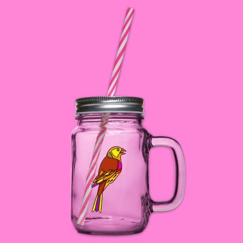 Geelgors illustratie - Drinkbeker met handvat en schroefdeksel