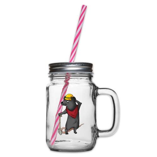 Arbeiter Ratte - Henkelglas mit Schraubdeckel