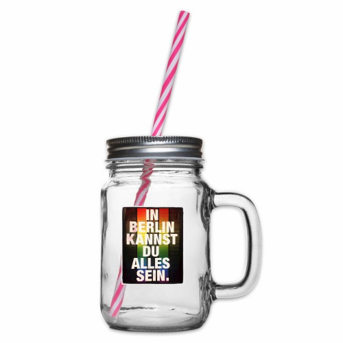 City of Freedom Berl!n - Glass jar with handle and screw cap