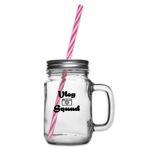 Vlog Squad - Glass jar with handle and screw cap