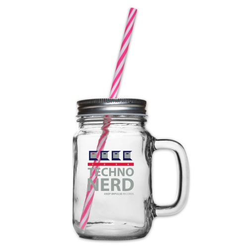 Techno Nerd - Glass jar with handle and screw cap