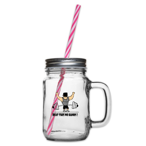 BEAT THIS NO HANDS ! - Glass jar with handle and screw cap