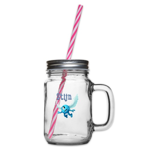 stijn png - Glass jar with handle and screw cap