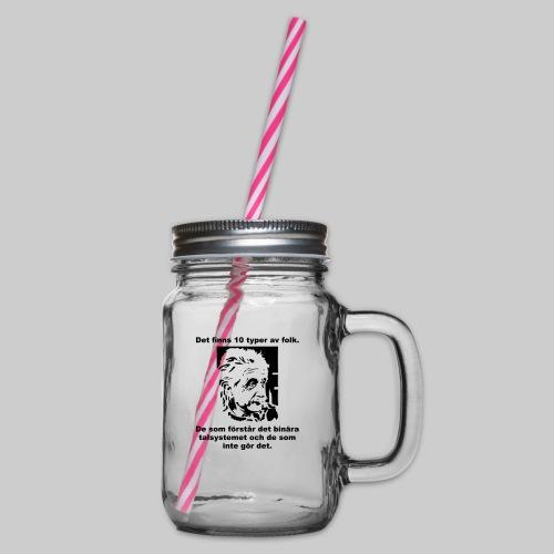 Det finns 10 Typer - Glas med handtag och skruvlock