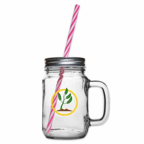 Setzlingemblem - Henkelglas mit Schraubdeckel