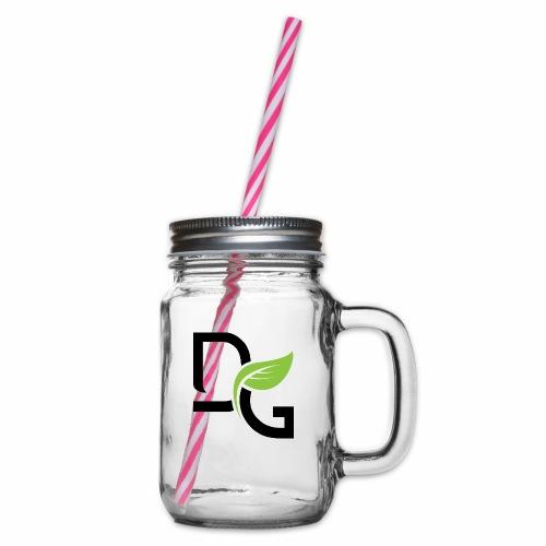 DrGreen Logo Symbol schwarz grün - Henkelglas mit Schraubdeckel