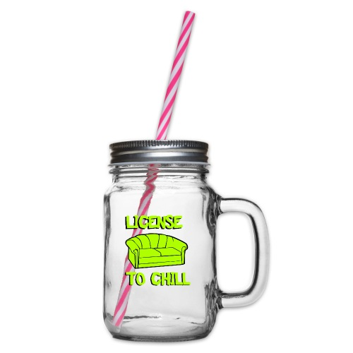 License to chill - Drinkbeker met handvat en schroefdeksel
