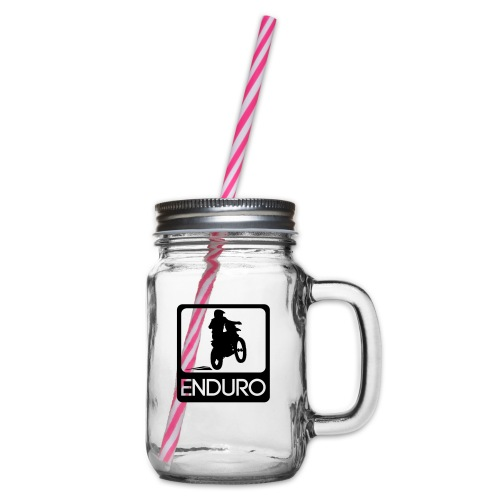 Enduro Rider - Henkelglas mit Schraubdeckel