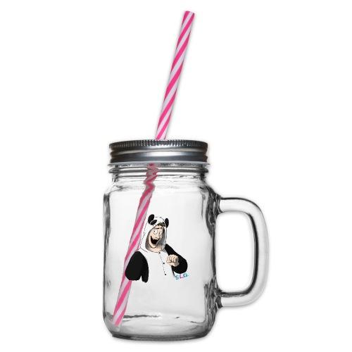 Panda - Tee shirt manches longues Premium Femme - Bocal à boisson
