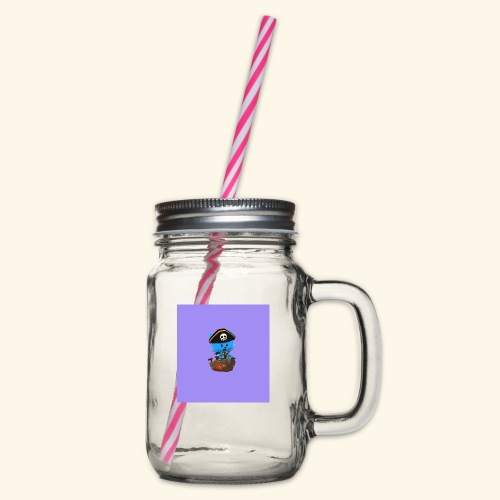 HCP custo 1 - Glass jar with handle and screw cap