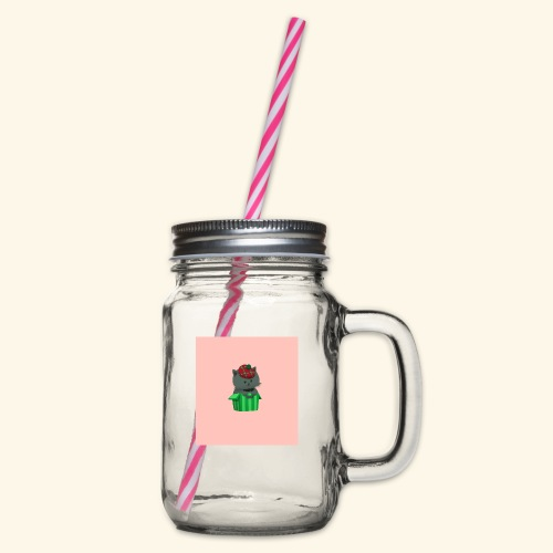 HCP custo 7 - Glass jar with handle and screw cap