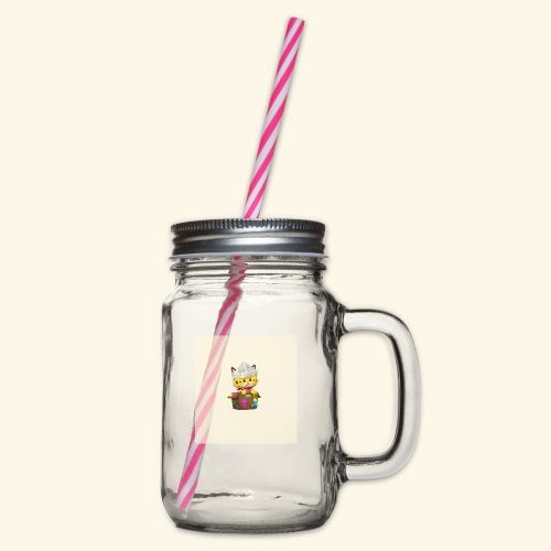 HCP custo 6 - Glass jar with handle and screw cap