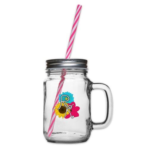 Roadkill-Flowers - Glas med handtag och skruvlock