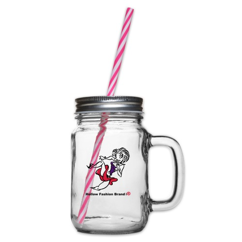 Hollow Fashion Brand i® - Glass jar with handle and screw cap