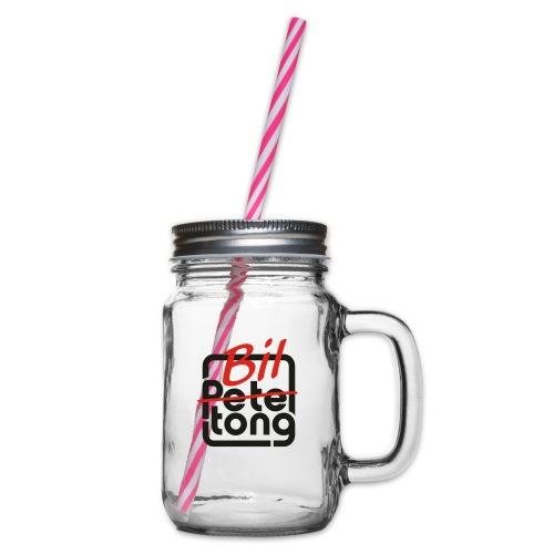 Biltong Not Pete Tong - Glass jar with handle and screw cap