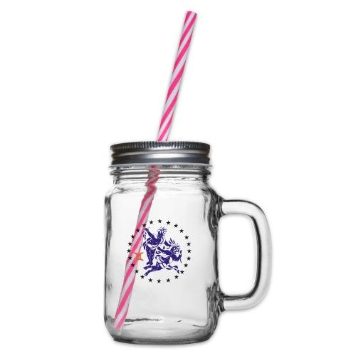 Tablier de cuisine : Zodiaque Gémeaux - Glass jar with handle and screw cap