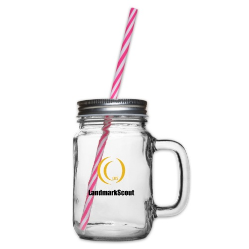 Tshirt White Front logo 2013 png - Glass jar with handle and screw cap