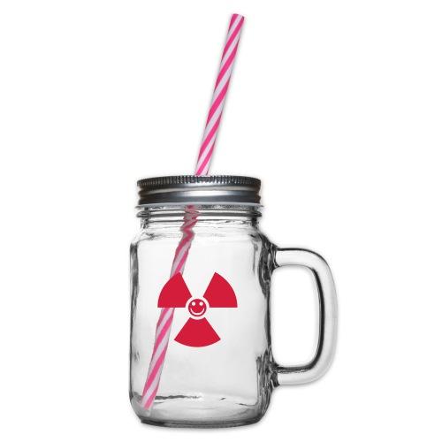 Atom! - Glas med handtag och skruvlock