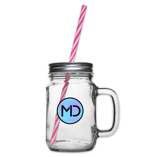 MD Blue Fibre Trans - Glass jar with handle and screw cap