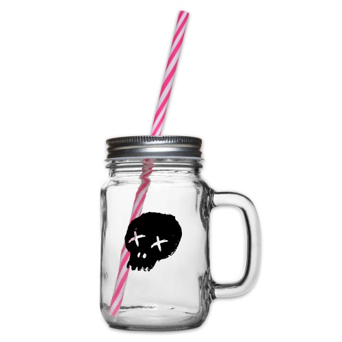 blackskulllogo png - Glass jar with handle and screw cap