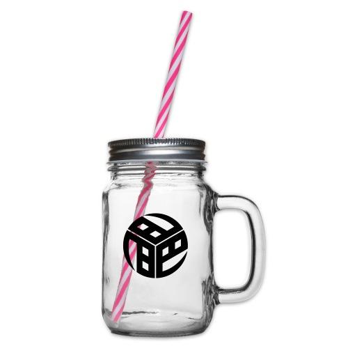 Mitsudomoe Symbol (stylisiert) - Henkelglas mit Schraubdeckel