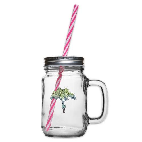 Treedeer - Glass jar with handle and screw cap