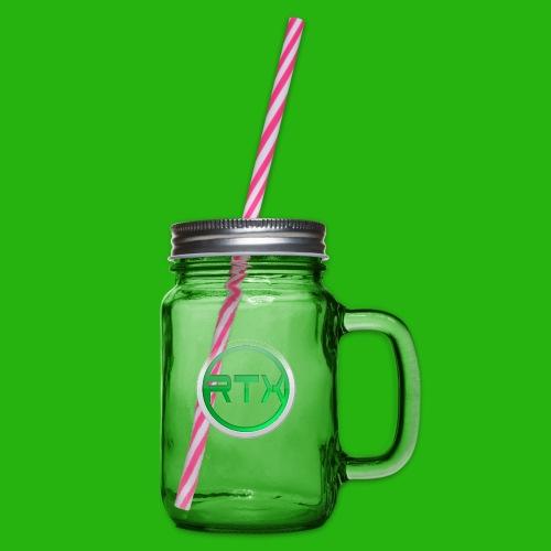Logo Mug - Glass jar with handle and screw cap