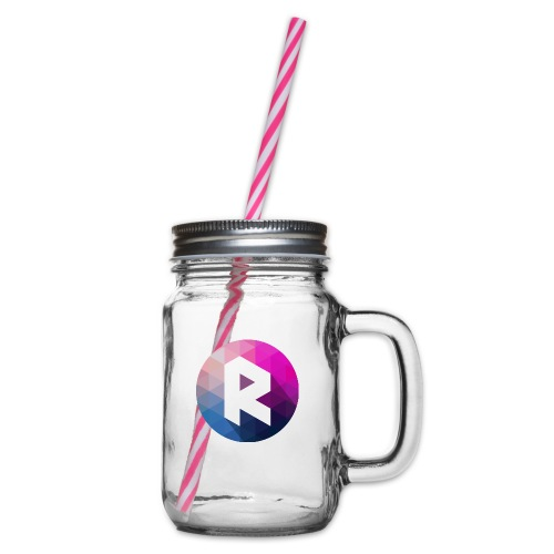 radiant logo - Glass jar with handle and screw cap