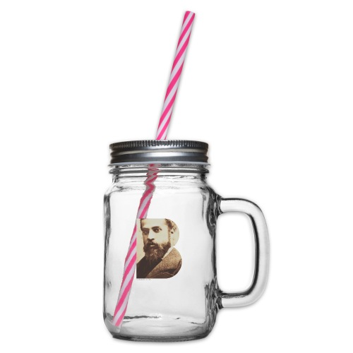 BT_GAUDI_ILLUSTRATOR - Glass jar with handle and screw cap