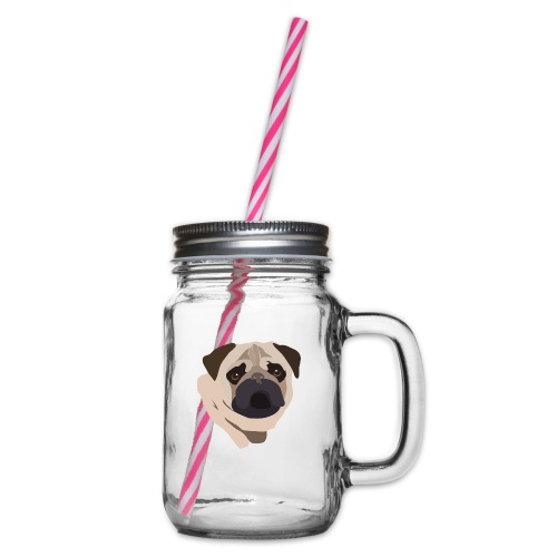 Pug Life - Glass jar with handle and screw cap