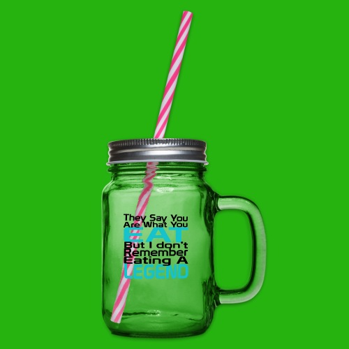 You Are What You Eat Shirt - Glass jar with handle and screw cap