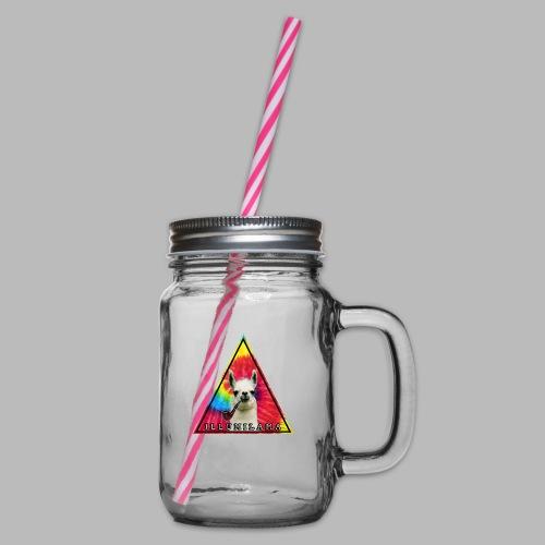 Illumilama logo T-shirt - Glass jar with handle and screw cap
