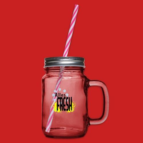 Alles Fresh / Frisch Sommer Eis - Henkelglas mit Schraubdeckel