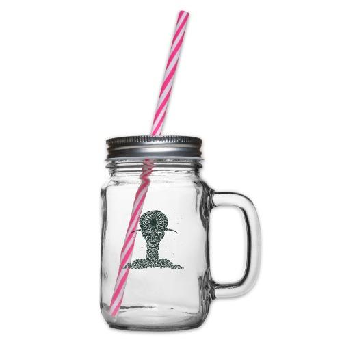 Thanatos - Glass jar with handle and screw cap