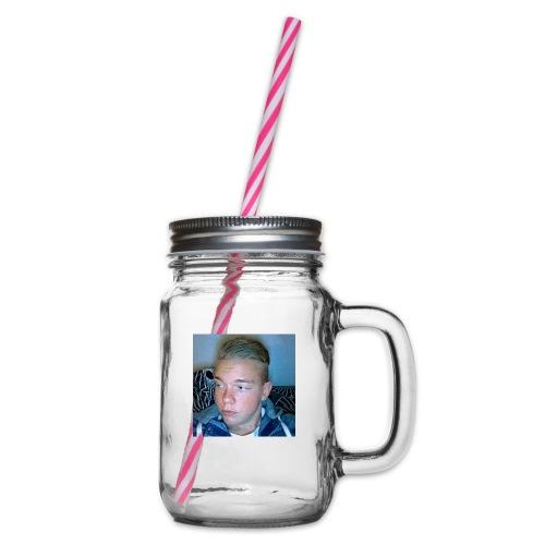 Fan Tröja - Glas med handtag och skruvlock