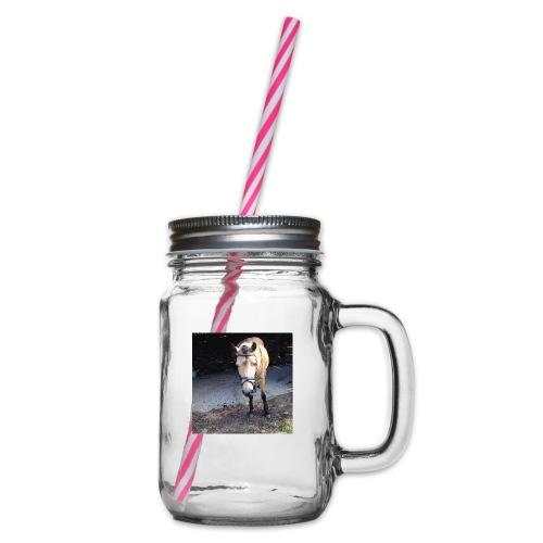 Häst - Glas med handtag och skruvlock