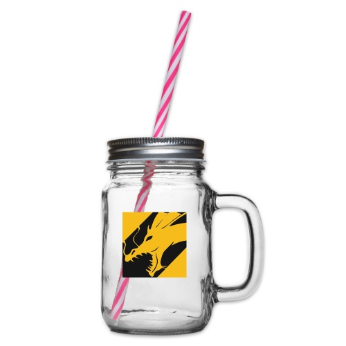 Dragon Yellow - Drinkbeker met handvat en schroefdeksel