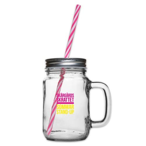 Keps - Glas med handtag och skruvlock