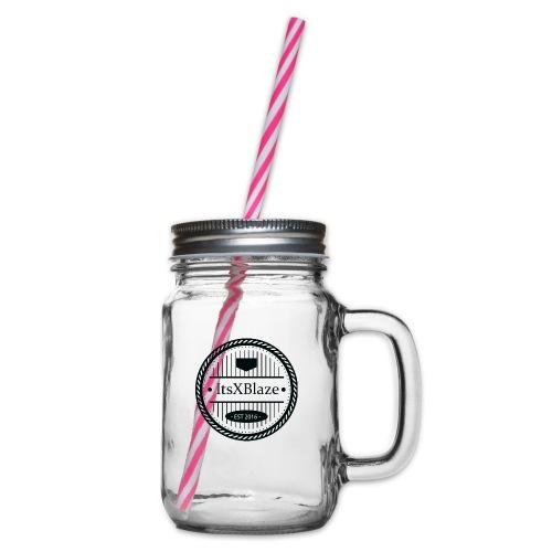 ItsXBlaze Logo 3 V-Neck Option 1 - Drinkbeker met handvat en schroefdeksel