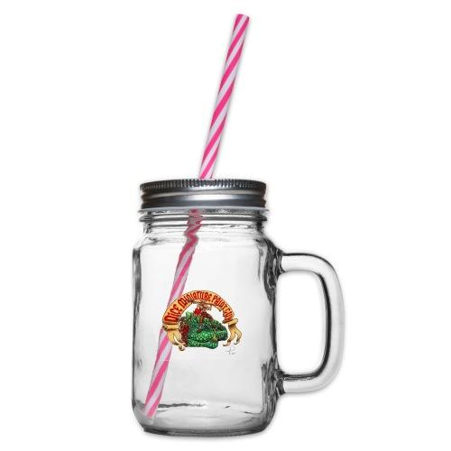 DiceMiniaturePaintGuy - Glass jar with handle and screw cap