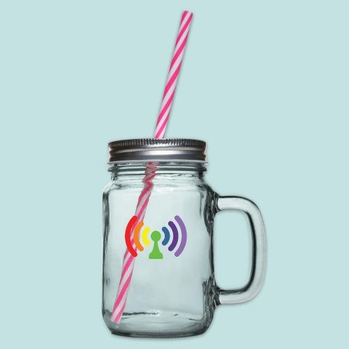 Bi-Fi - Glass jar with handle and screw cap