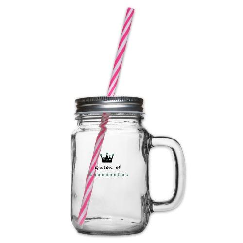 Queenofthousandox - Henkelglas mit Schraubdeckel