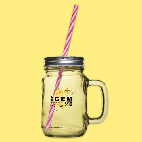 Logo - mug - Drinkbeker met handvat en schroefdeksel