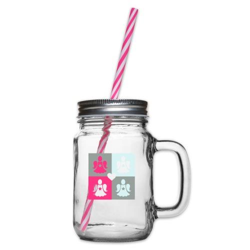 Housse de coussin Déclinaison d'anges gardiens - Glass jar with handle and screw cap