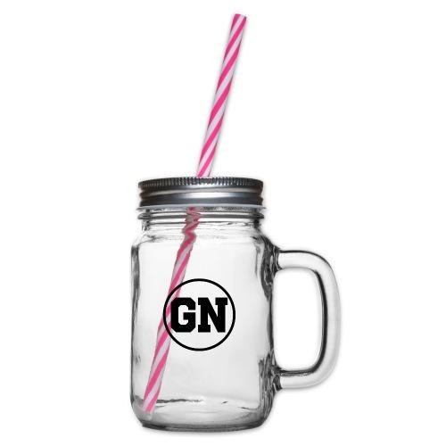 GainsNation old school - Glas med handtag och skruvlock
