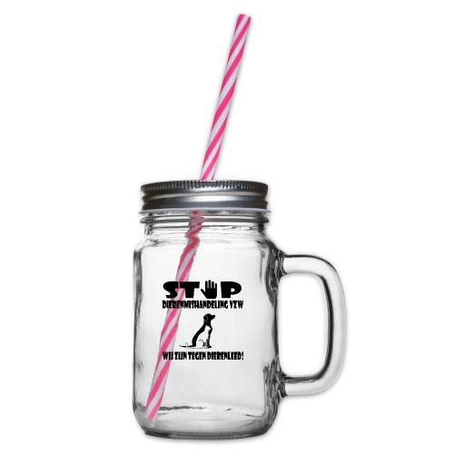 sd vzw - Drinkbeker met handvat en schroefdeksel