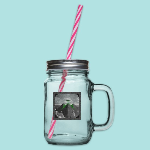 Invaders_sized4t-shirt - Glass jar with handle and screw cap