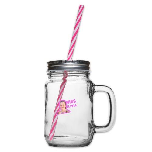 MissOlivia - Drinkbeker met handvat en schroefdeksel